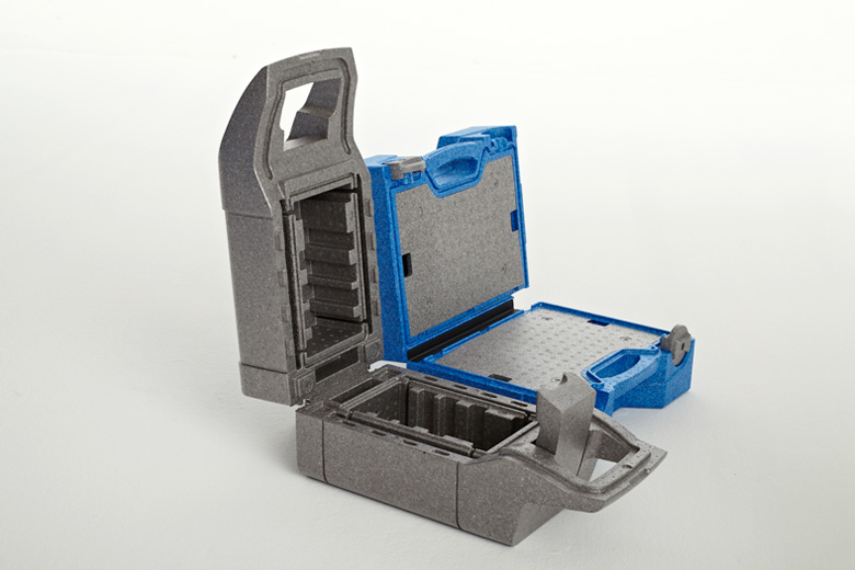 HSV Moulded Foams Group supplier of suitcases and carrying systems for the medical industry, material EPP